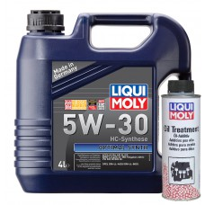 Liqui Moly Optimal Synth 5W30 4 литра + Oil Treatment